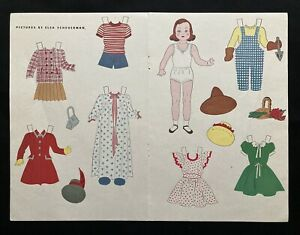 Doll in the Toy Shop Paper Doll, 1946, Jack and Jill Mag. Elsa Scheuerman