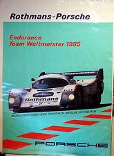 ROTHMANS PORSCHE ENDURANCE WELTMEISTER 1985 vintage poster. Orig. factory print!