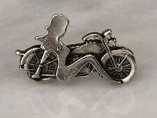 Vintage motorcycle Harley Davidson pinback button with nude