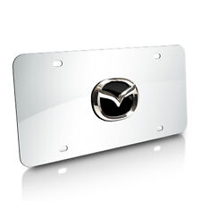 Mazda Zoom-Zoom on Chrome Stainless Steel License Plate