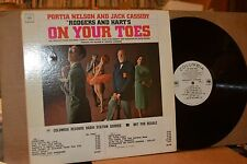 ON YOUR TOES; MINT- COLUMBIA 7090 STUDIO CAST REISSUE WHITE LABEL PROMO LP