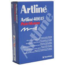 Artline 400xf BLACK Paint Markers 2.3mm Box 12
