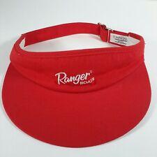 Vtg Ranger Boats Red Visor White Logo Bass Fishing Hat Golf Cap Hat OSFA