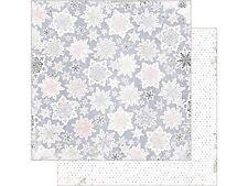Bo Bunny: 12x12 Winter Wishes Snowfall 2pc Scrapbook Paper
