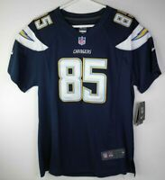 NIKE On Field ANTONIO GATES Chargers Jersey #85 NFL Football YOUTH XL Navy Blue