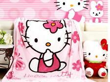 "Hello Kitty Soft Warm Coral Fleece 150CM*200CM Throw Plush Blanket  60""*80"" Gift"