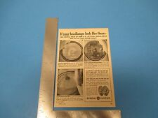 1957 Print Ad, General Electric GE All-Weather Headlamps, Auto, Car Cleveland OH
