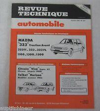 Revue technique automobile RTA 437 1983 Mazda 323 traction avant 323 1100 1300..
