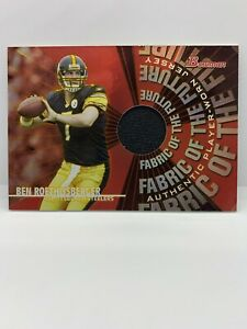 Ben Roethlisberger Pittsburgh Steelers 2004 Bowman Rookie Fabric Jersey Patch
