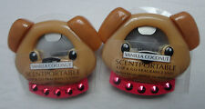 2 SLATKIN & CO DOG SCENTPORTABLE CLIP & GO VANILLA COCONUT FRAGRANCE UNIT