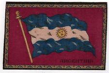 VINTAGE Antique TOBACCO FELT Felts PREMIUM Argentina Flag SOUTH AMERICA Flannel