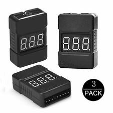 Lipo Battery Checker - Rc 1-8S Battery Tester Monitor - Low Voltage Buzzer Alarm