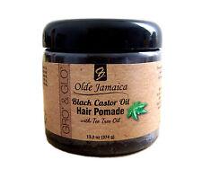 Olde Jamaica Black Castor Oil Pomade with tea tree oil (Hair Grower) - 13.2 oz