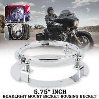"""5.75"""" 5 3/4'' Chrom Haupt LED Scheinwerfer Montagering Halter Für Harley Touring"""