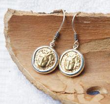 Medusa - 18K Gold - 925 Sterling Silver - Ancient Coin Earrings