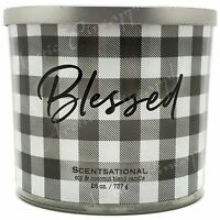 Scentsational Blessed Logo Soy & Coconut Wax 26oz 3 Wick Candle - Pumpkin Spice