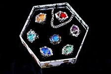 HitmanReborn Ring Cosplay Anime Vongola Ring Set 7pcs With Box New