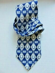 """Indianapolis Colts NFL Football Silk  Necktie Geometric Coaches Official NFL 57"""""""