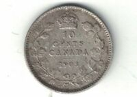 CANADA 1903 10 CENTS DIME EDWARD VII STERLING SILVER CANADIAN COIN