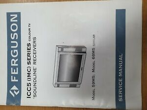 Vintage Manual FERGUSON Television Model ICC5
