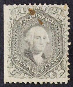 "US # 78b *UNUSED RG H* { 24c GRAY WASHINGTON } ""SCARCE FROM 1862 CV$ 1,000.00"