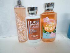 Bath & Body Works PRETTY as a PEACH Fine Mist Lotion Gel full size set of 3