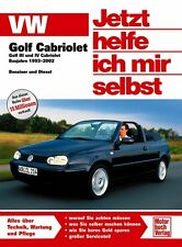 VW GOLF 3 4 CABRIO Reparaturanleitung Jetzt helfe ich mir selbst Reparaturbuch