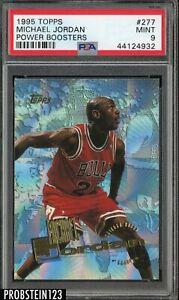 1995-96 Topps #277 Michael Jordan HOF Power Boosters PSA 9