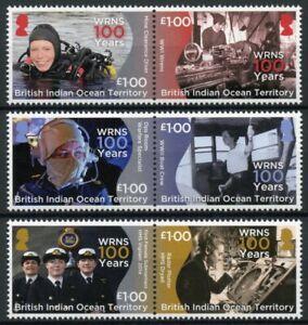BIOT Military Stamps 2017 MNH WRNS Womens Royal Naval Service 6v Set