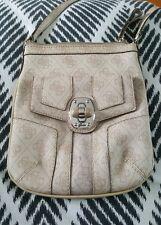 GUESS Beige G Monogram Cross body Shoulder Bag Handbag