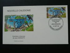 bird pigeon raven fish conger FDC New Caledonia 60727