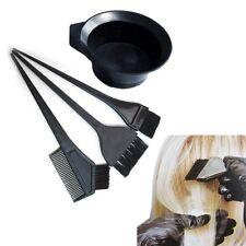4/pk Hair Coloring Dyeing Kit Color Dye Brush Comb Mixing Bowl Tint Tool Bleach