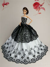 Fashion Royalty Princess Party Dress/Clothes/Gown For Barbie Doll S139