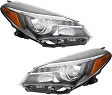 Halogen Headlights Headlamps (w/LED DRL) NEW Pair Set for 15-17 Toyota Yaris SE