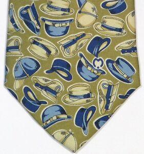 Olive Green Hats MILA SCHON Silk Tie