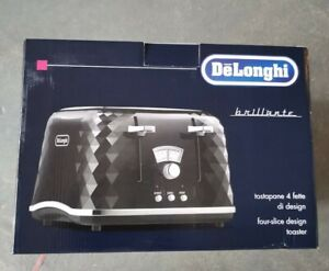 De'Longhi Simbolo 4 Slice Toaster in Black - BNIB