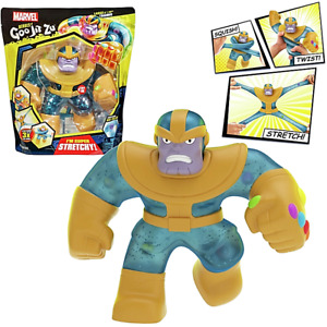 """Heroes of Goo Jit Zu Giant Thanos 8"""" Super Stretchy New Avengers Villain Toy"""
