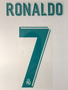 Flocage Officiel Real Madrid Ronaldo 7 Home Junior 2017/2018