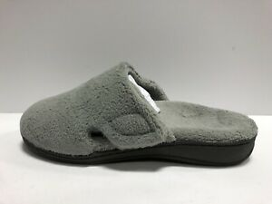Vionic Indulge Gemma Plush Womens Slipper Light Gray 7 M