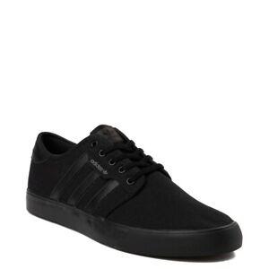 Mens adidas Seeley Skate Shoe Black Monochrome Mono New