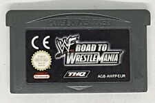 WF Road To Wrestlemania - Nintendo Game Boy Advance Retro Cartridge PAL