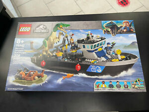 LEGO Jurassic World 76942 BARYONYX DINOSAUR BOAT ESCAPE Brand New Sealed 308 Pcs