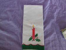 Vintage Lillian Vernon Christmas Cotton Guest Towel Candle Appliqué