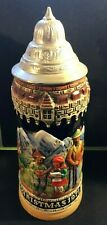 SCHMID Germany 1st Edition CHRISTMAS 1971 Lidded Marked Bavarian .5l Beer Stein