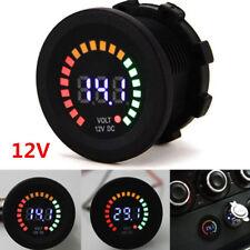 Universal 12V Car Motorcycle Pickup Blue LED DC Digital Display Voltmeter Meter