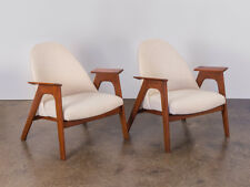 Spectacular Pair of American Walnut Armchairs