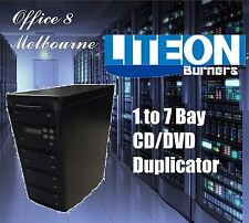 BRAND NEW 1 to 7 CD DVD Duplicator Tower LiteOn Burners 7 Bay CD DVD Duplicator