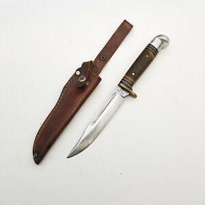Vintage Western 648 A Bird & Trout Fixed Blade U.S.A. Knife w/Sheath Hunting