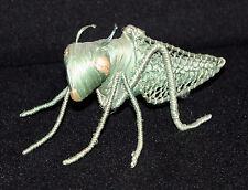 Hand Crafted Grasshopper Beautiful Piece ~ Braided Straw on metal skeleton