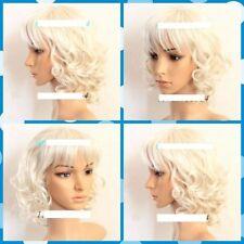 CXJJF1559 charmed fashion short white curly health Wig wavy hair women wigs
